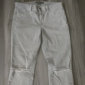 J Brand Mid rise tattered jeans size 30